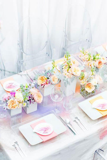 Water Color Wedding Tablescape