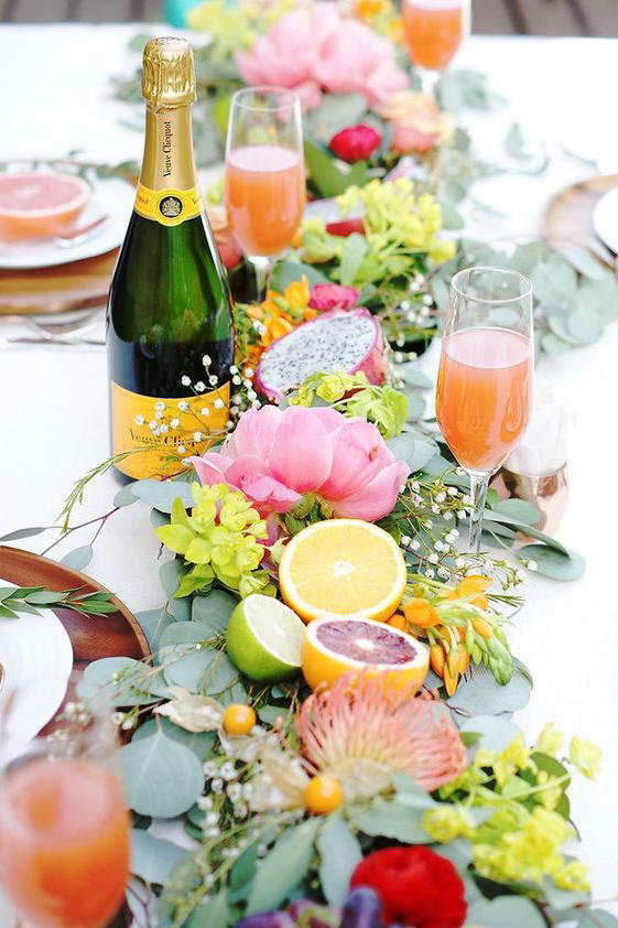 Citrus Garland Wedding Tablescape