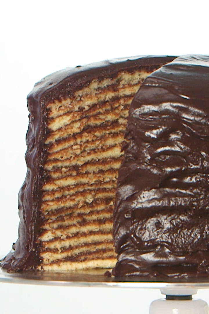 Ivy Odom 18-Layer Chocolate Cake Still