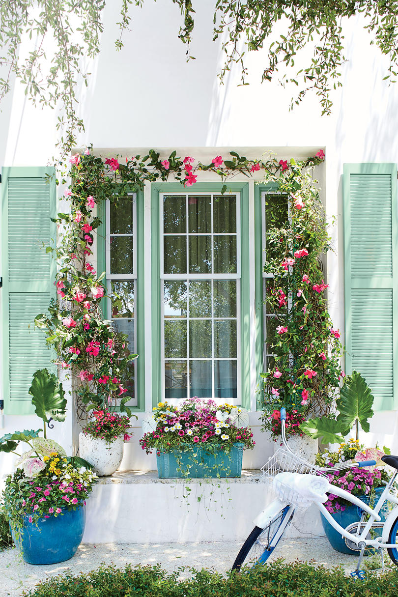 Frame with Blooms Spring Container