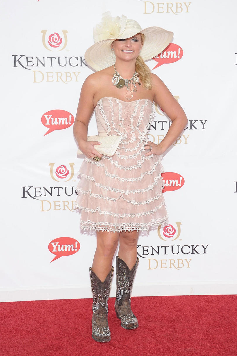 ca259011a 2012: Boots Made for Walkin'. Miranda Lambert at the Kentucky Derby