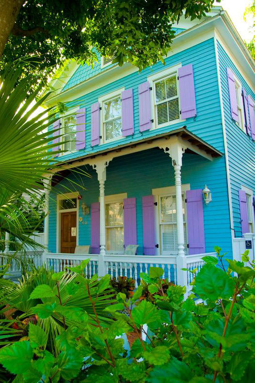 Turquoise and Purple House Key West