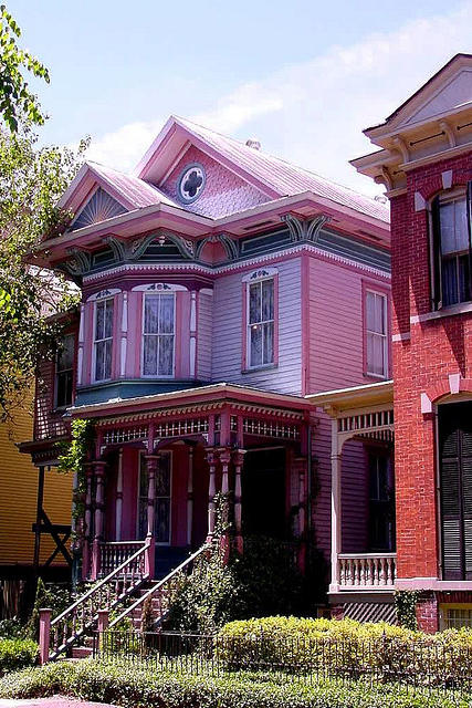 Pink House in Savannah