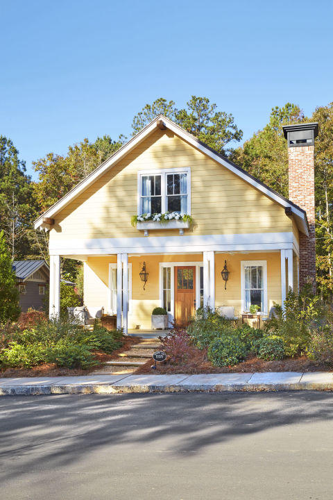 Front Elevation Paint Colour : The most colorful houses in south southern living