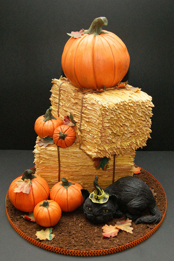 Pumpkins and Haystacks Cake