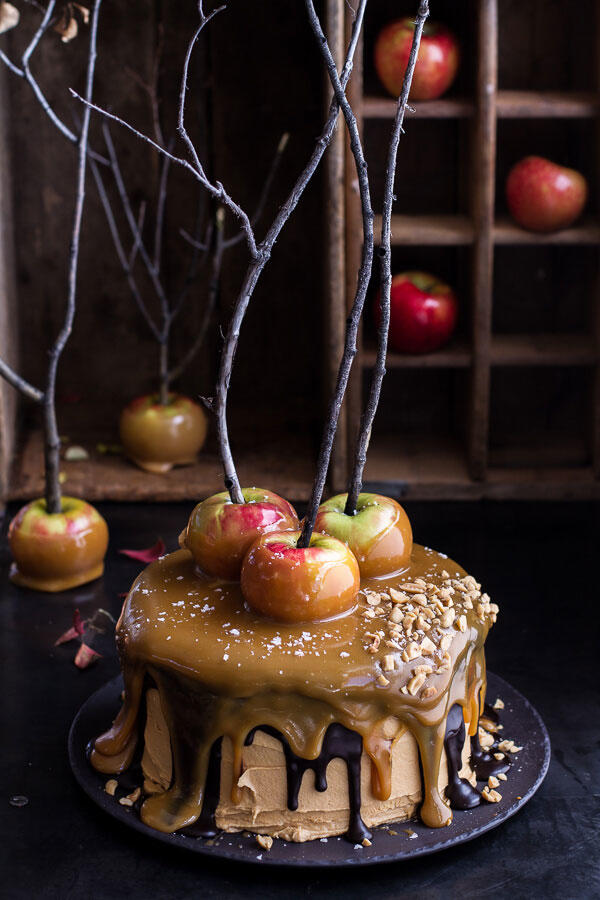 Caramel Apple Halloween Cake