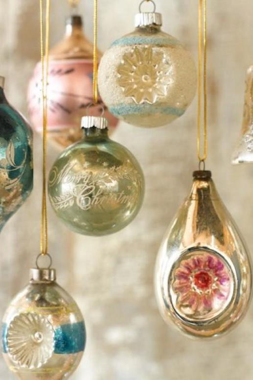 Enchanting vintage christmas ornaments southern living for What to do with old christmas ornaments