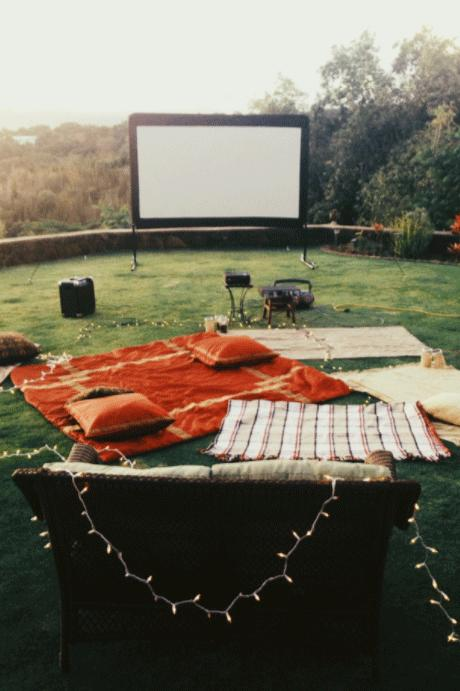 Our Favorite Fall Party Theme Ideas - Backyard Movie Night