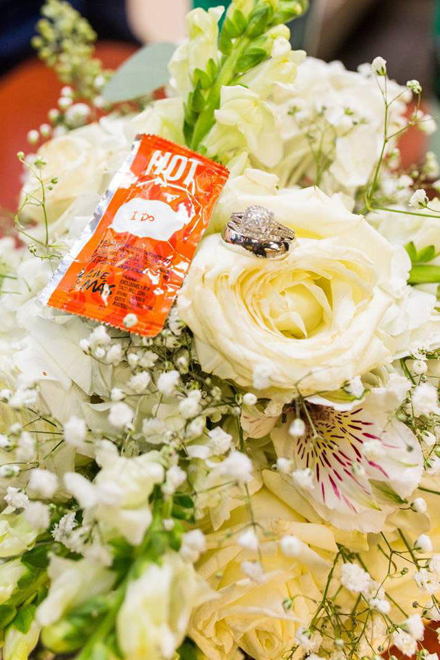 A Bridal Bouquet Full of Precious Memories and Condiments