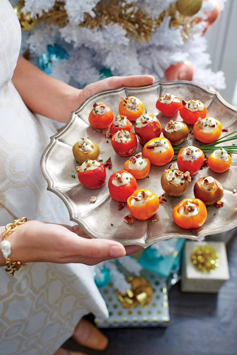 Blue Cheese-and-Pecan Stuffed Cherry Peppers