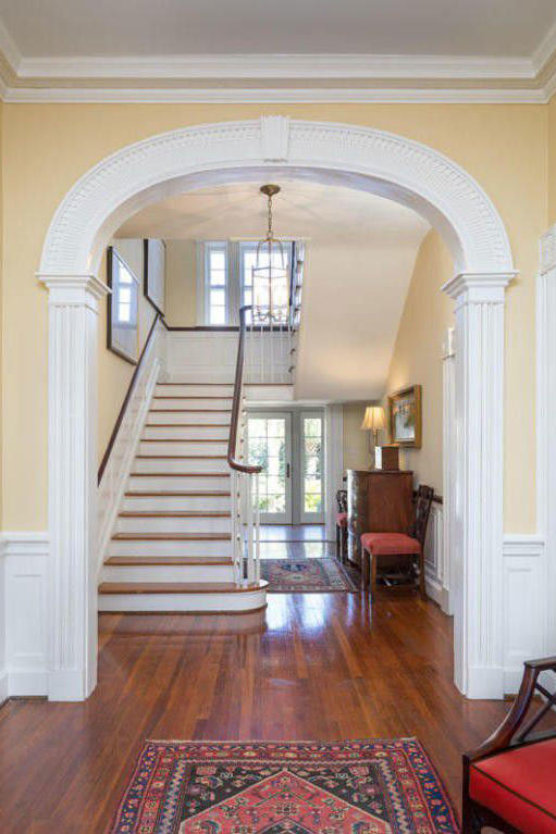 Colonial Brick Home Staircase