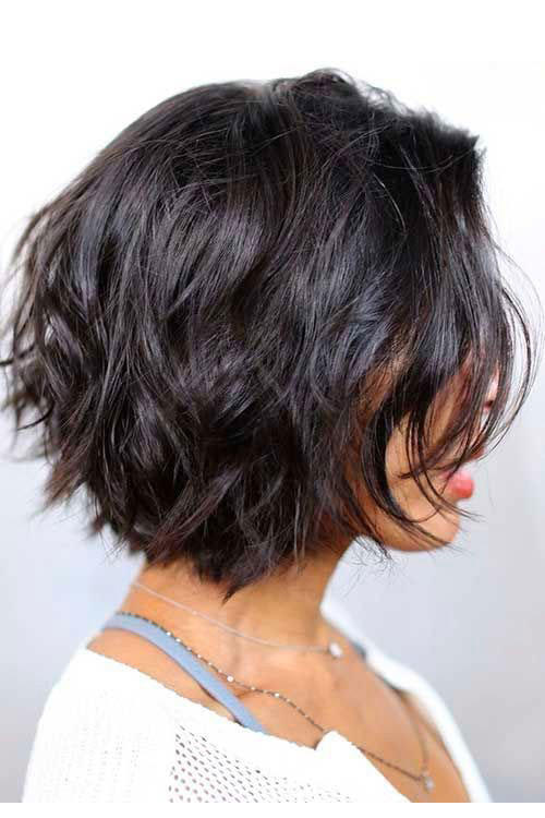 For Wavy Hair: Stacked Bob