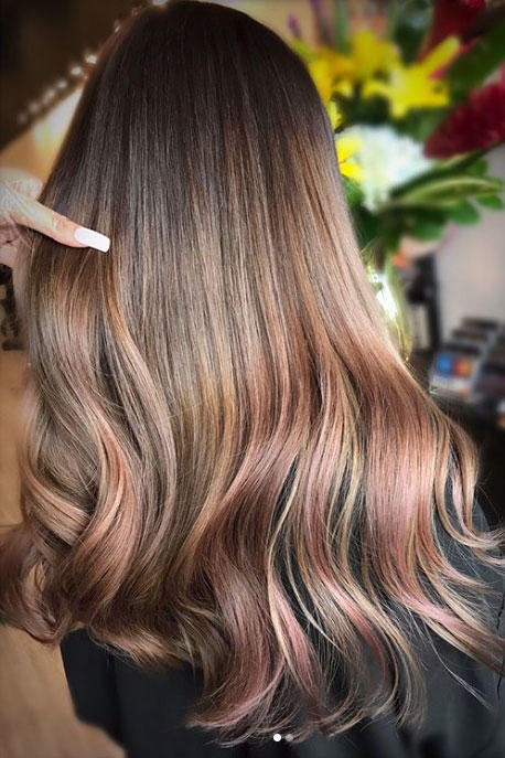 Rose Brown Hair Might Be The Prettiest Summer Trend For