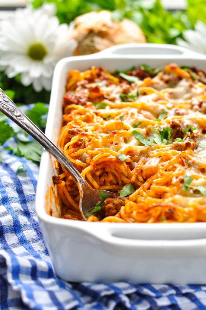 5-Ingredient Baked Spaghetti