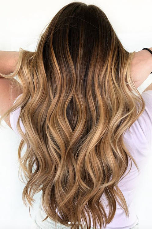 cold brew hair is trending for fall and brunettes everywhere are