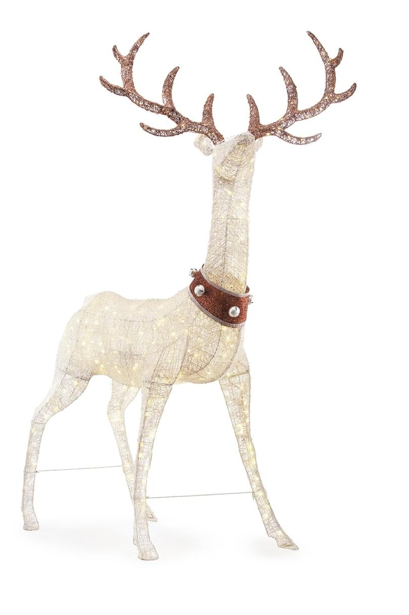 103 in. 320L LED PVC Standing Deer with Jingle Bell Collar; $169