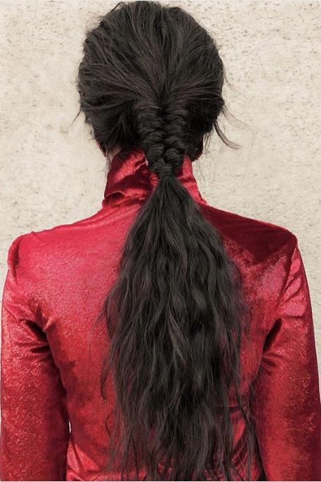 Half-Braided Low Pony