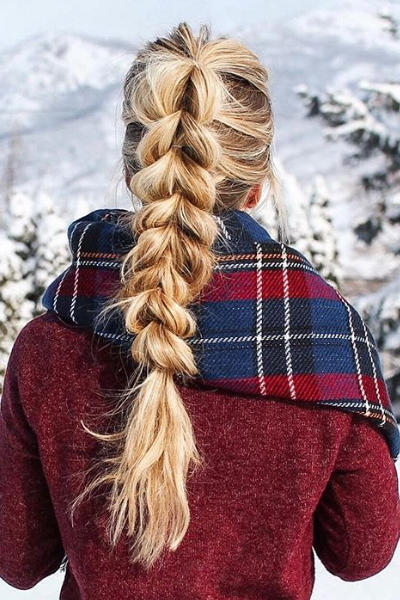 Pull-Through Braid Ponytail