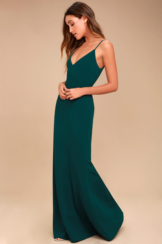 Infinite Glory Maxi Dress in Forest Green