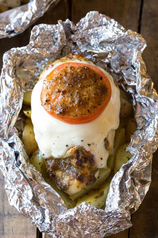 Caprese Chicken Foil Packets