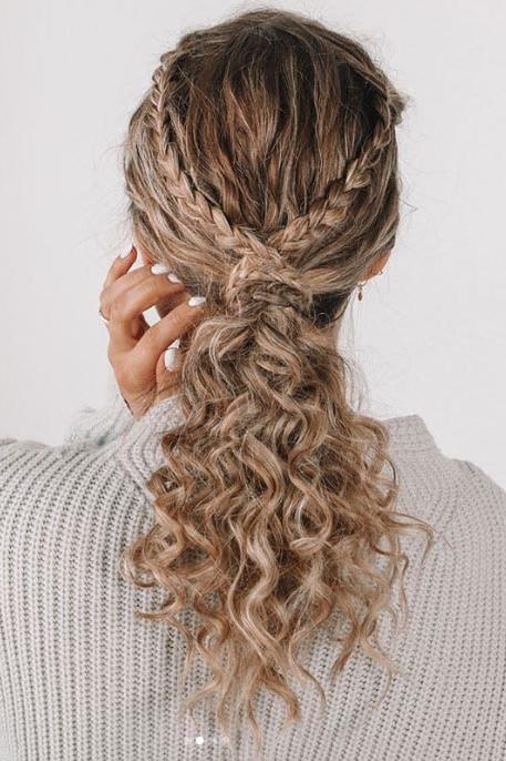 Braided Low Pony