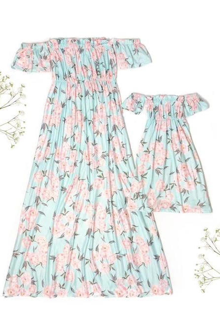 Off-Shoulder Pastel Dresses