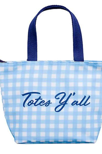 Belk Draper James Gingham Totes Y'all Lunch Tote Bag, $28
