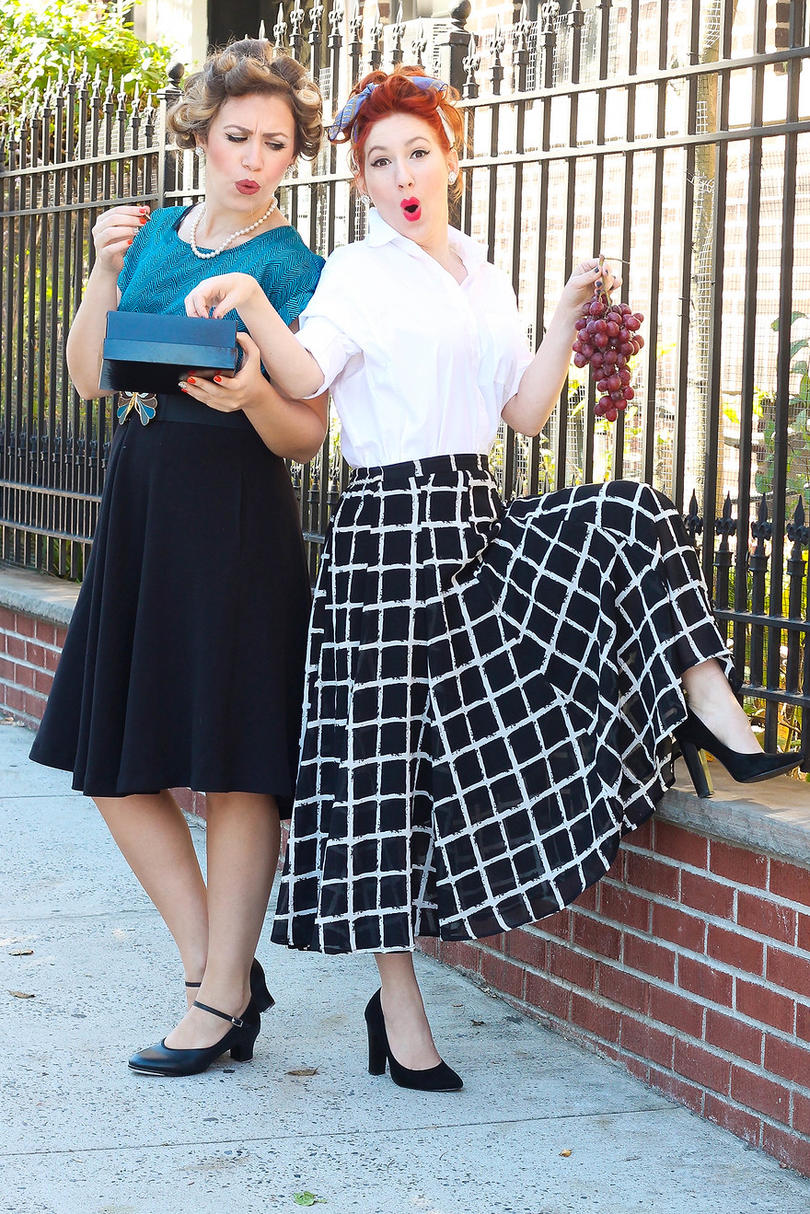 Lucy & Ethel from  I Love Lucy