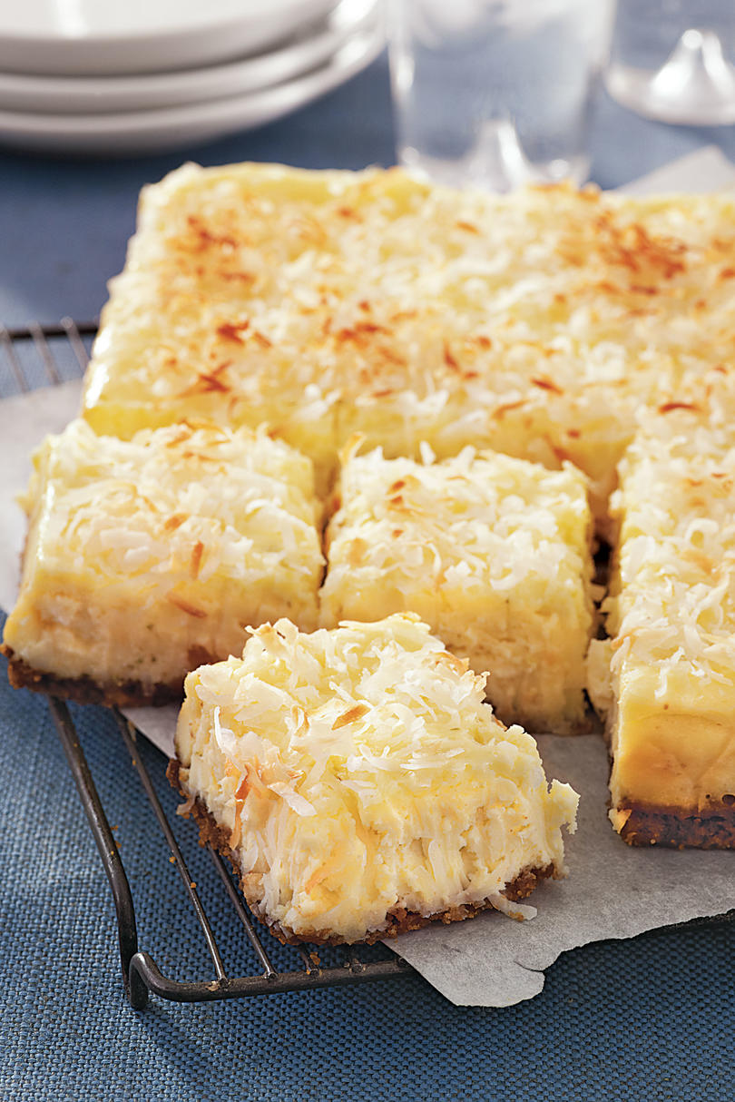 Coconut Cheesecake Squares