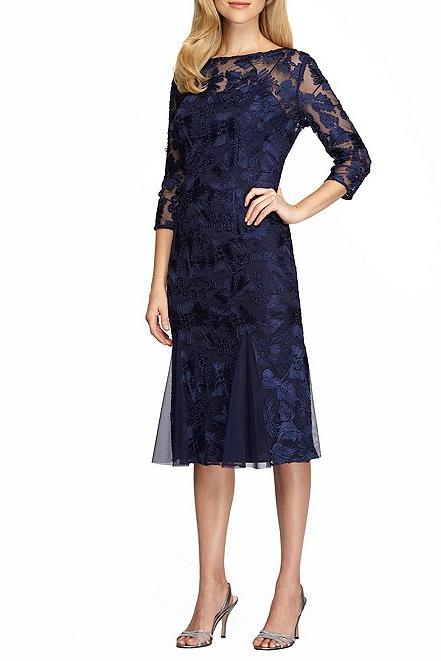 RX_1910_Navy Blue Holiday Dresses_Embroidered Midi Dress