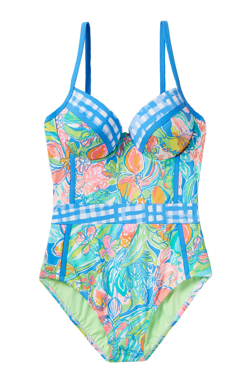 Mixed Print One-Piece