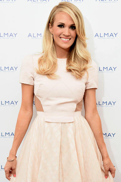 Carrie Underwood White Dress with Cut Outs