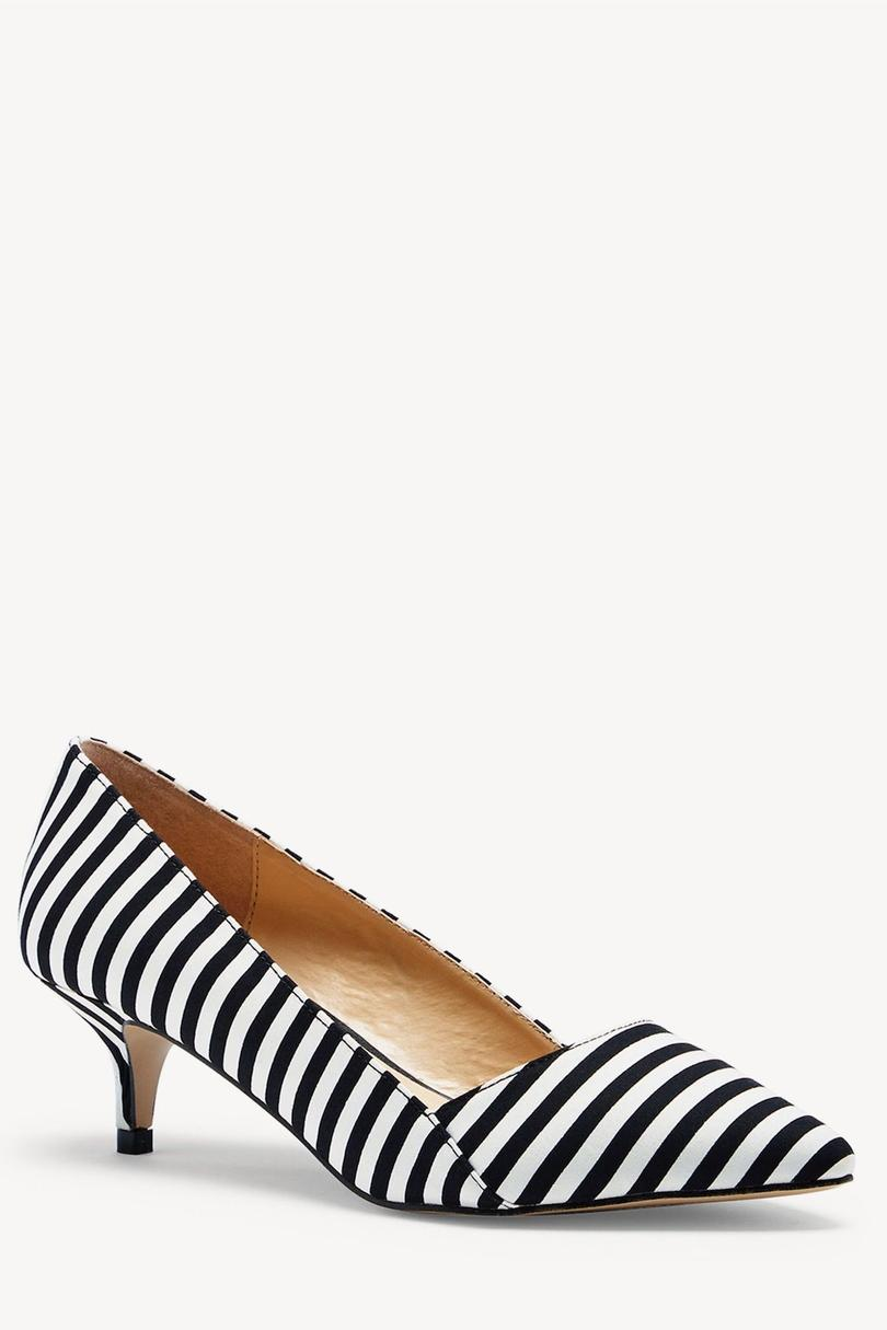 Desi Kitten Heel Pump in stripe