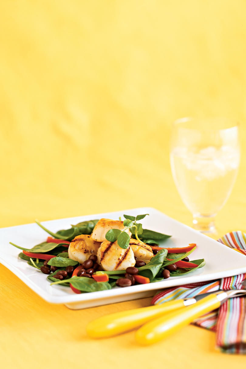 Scallops with Mango Vinaigrette recipe