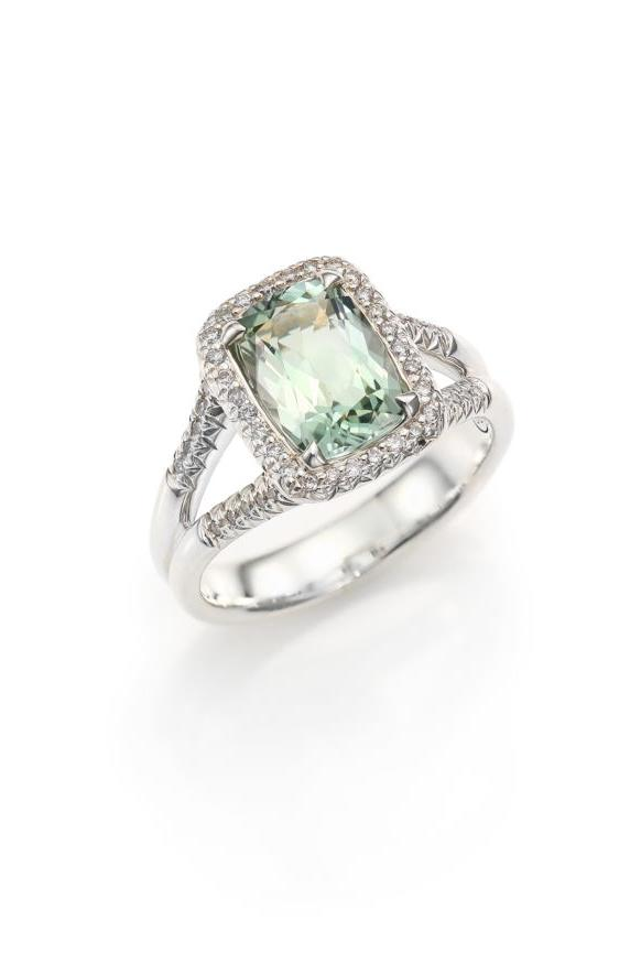 John Hardy Classic Chain Diamond, Prasiolite & Sterling Silver Ring