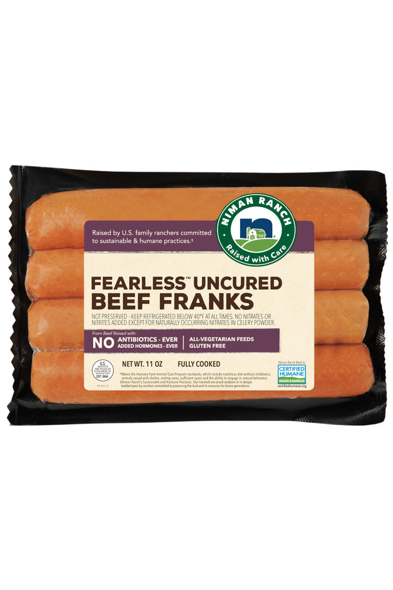 Best Beef: Niman Ranch Fearless Franks Uncured Beef Hot Dogs