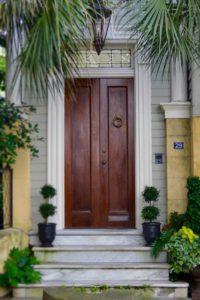 Stained Double Doors & Our Favorite Charleston Front Doors