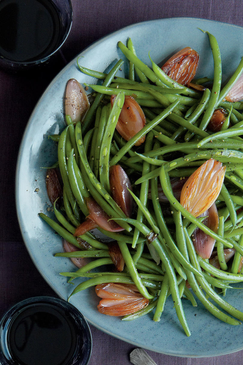 Green Beans with Caramelized Shallots