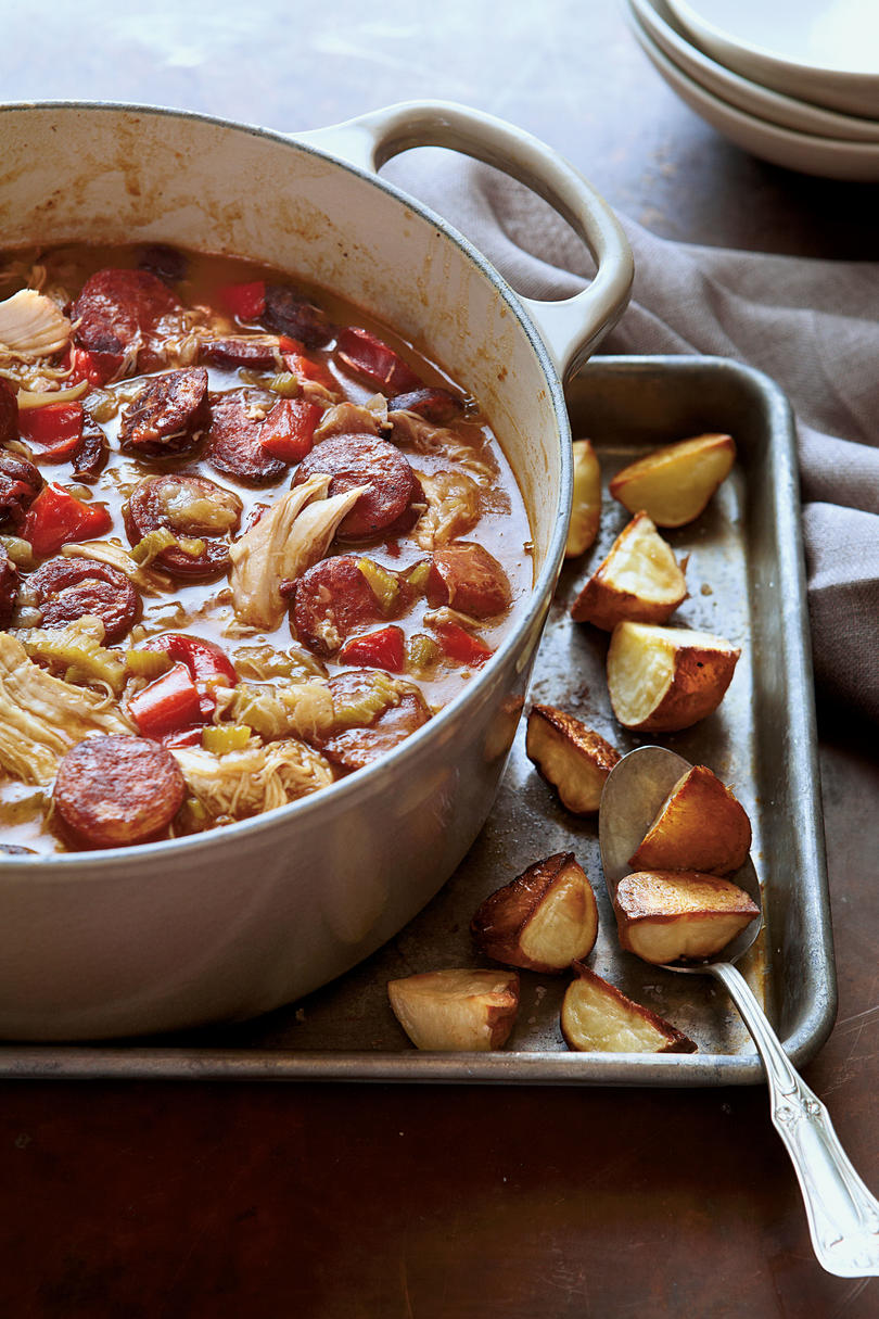 Classic mardi gras recipes southern living chicken andouille gumbo forumfinder Image collections