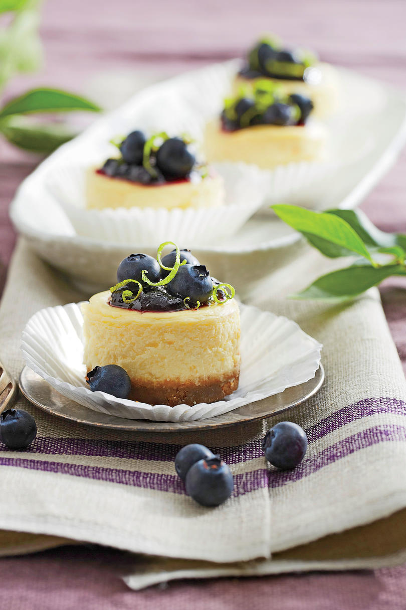 RX_1905_Fourth of July Cake Ideas_Petite Blueberry Cheesecakes