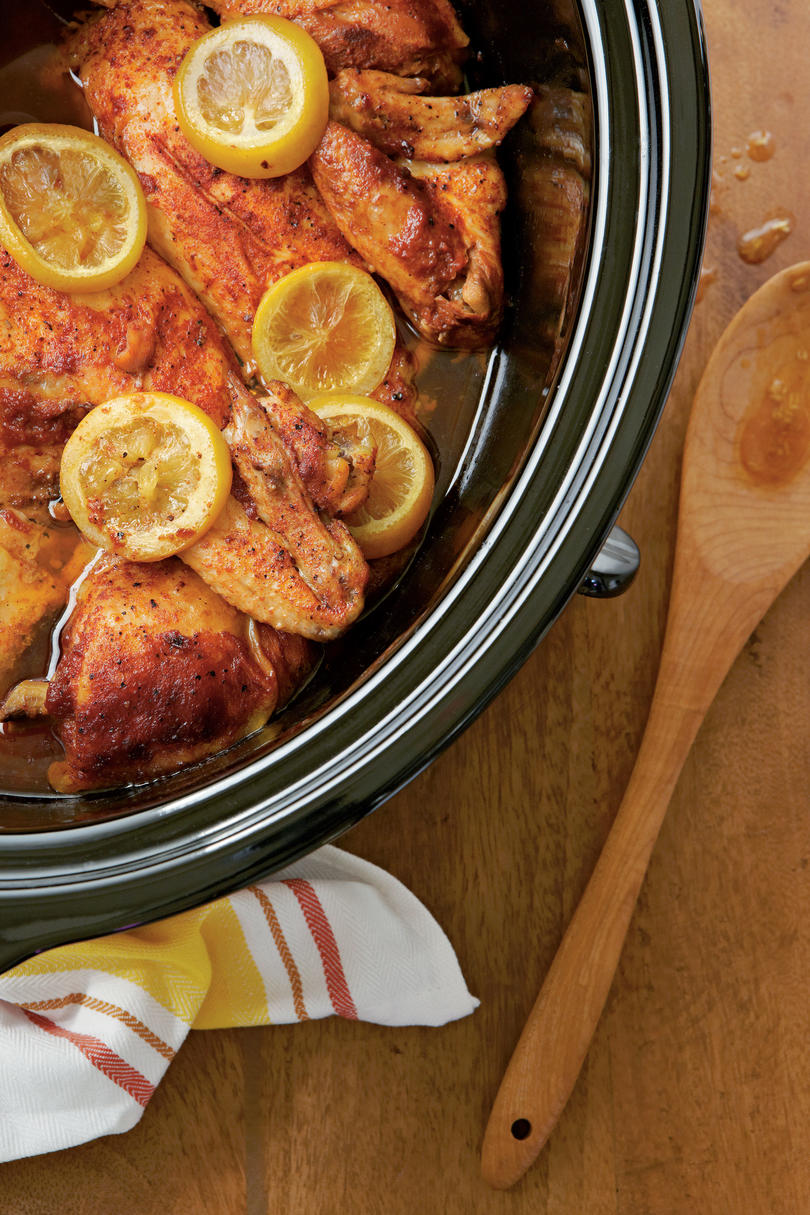 Slow-Cooked Barbecued Chicken