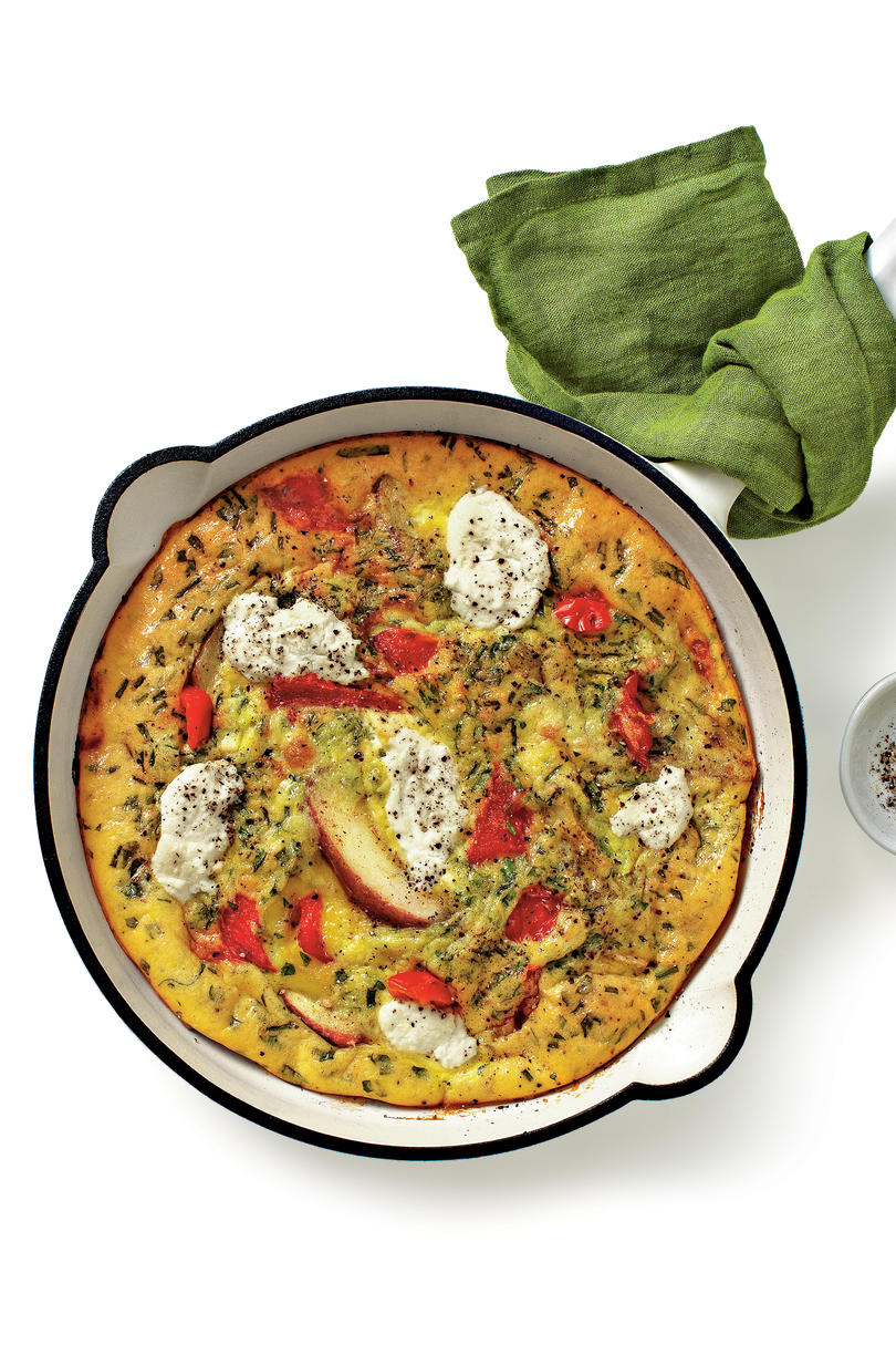 Fluffy and flavorful quiche recipes southern living red pepper potato and ricotta frittata recipe forumfinder Choice Image