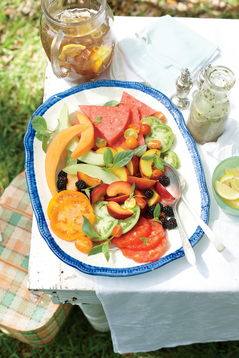 Tomato-and-Fruit Salad