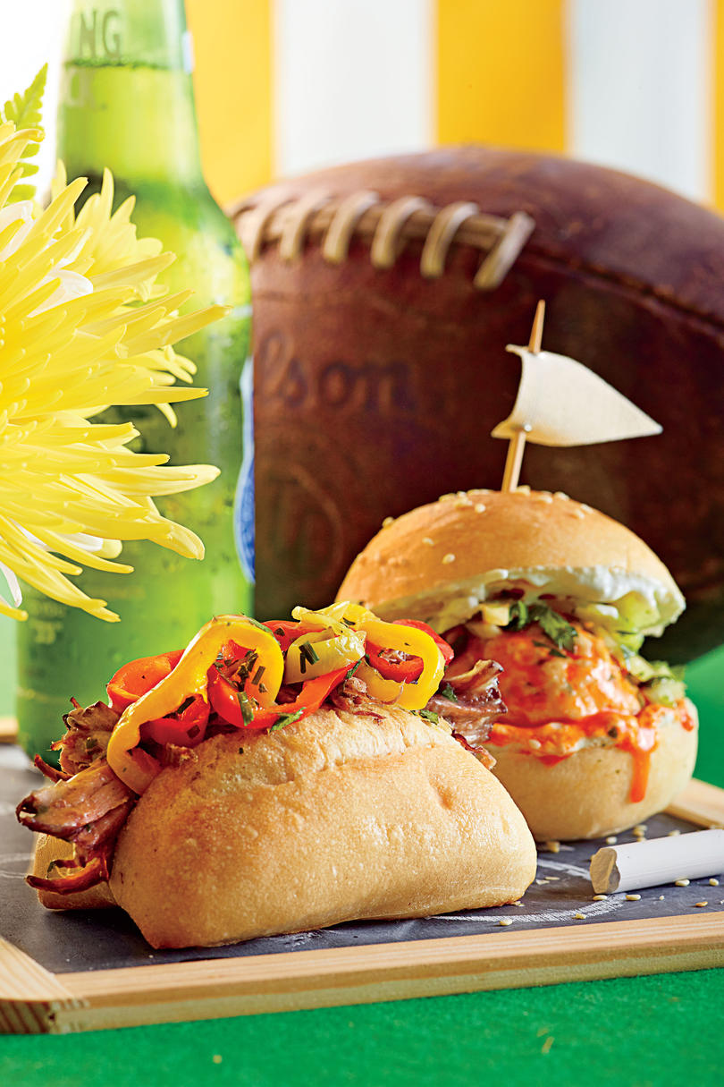 Slow-Cooker Beef Sliders with Pickled Peppers