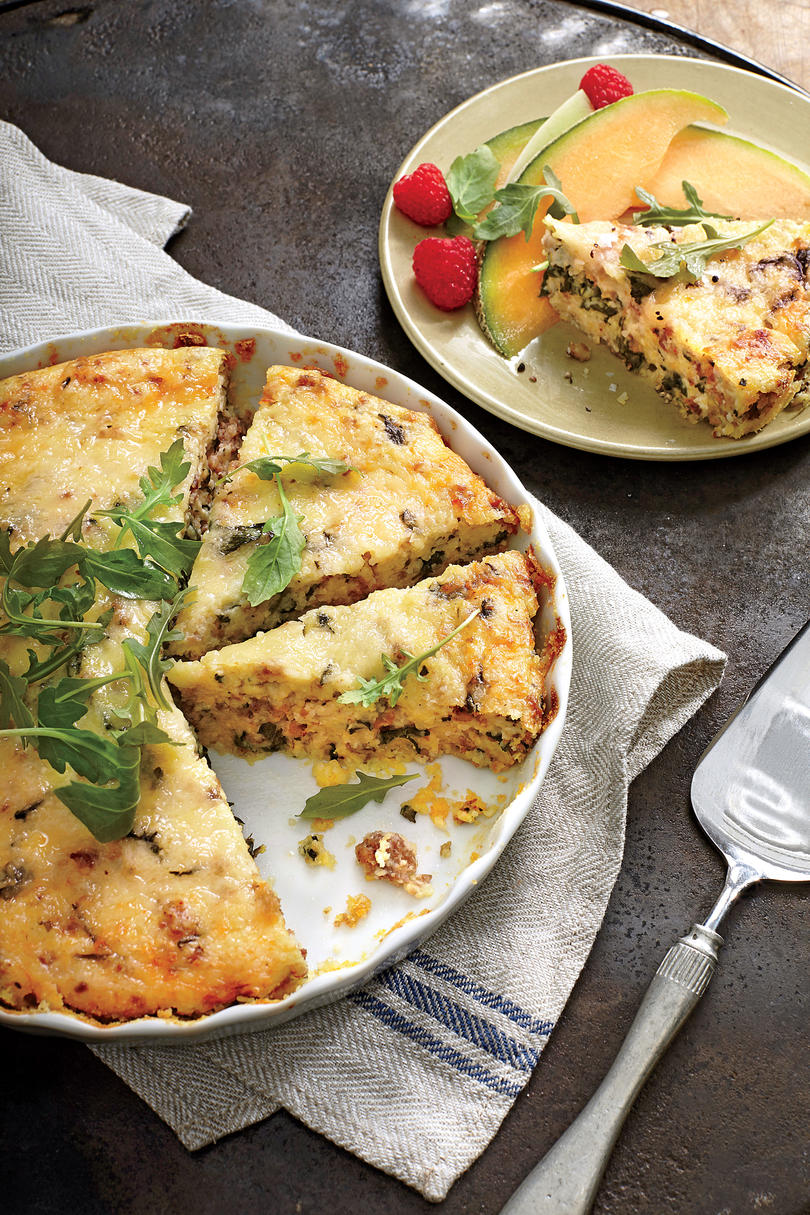 Sausage-and-Grits Quiche