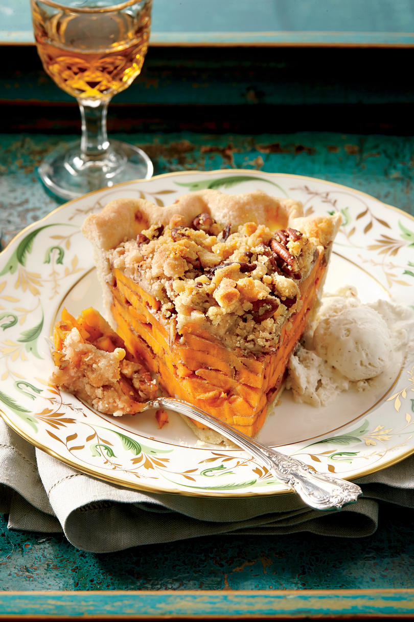Sliced Sweet Potato Pie