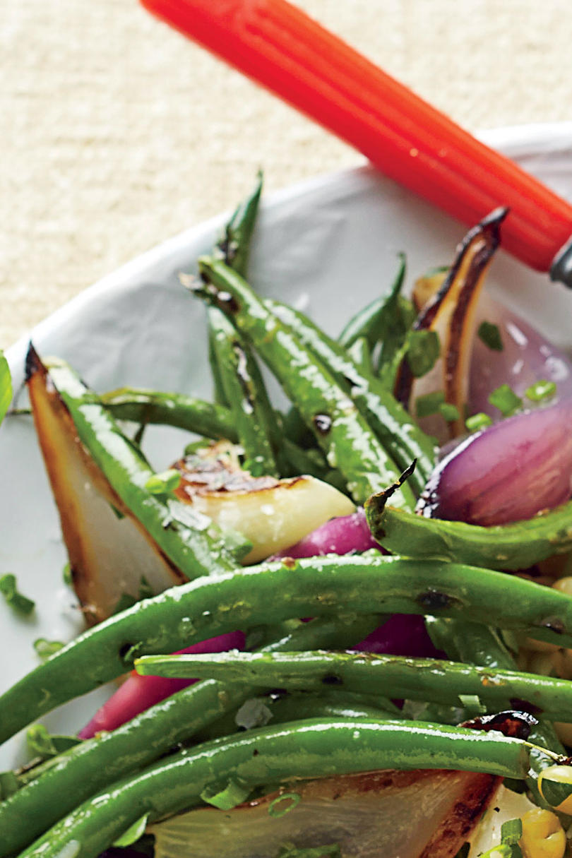 Green Beans and Charred Onions