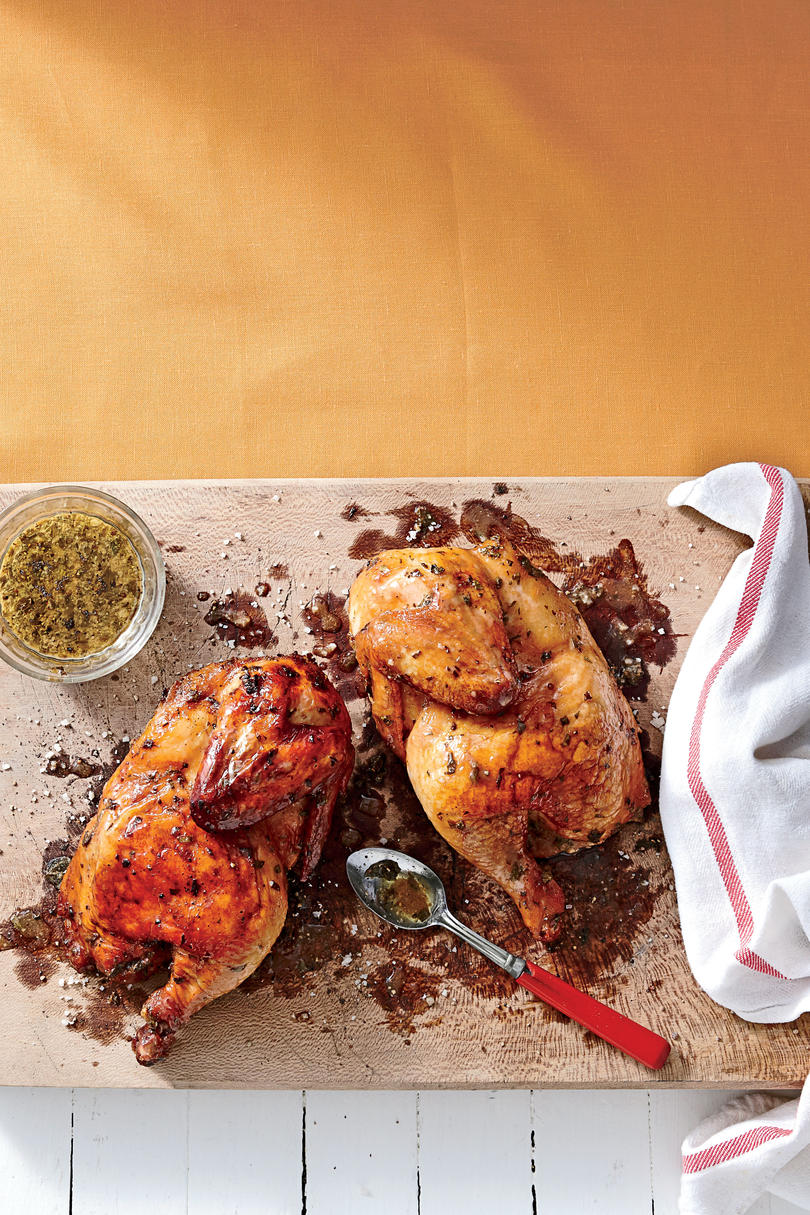 Smoked Chicken with Fresh Herb Marinade