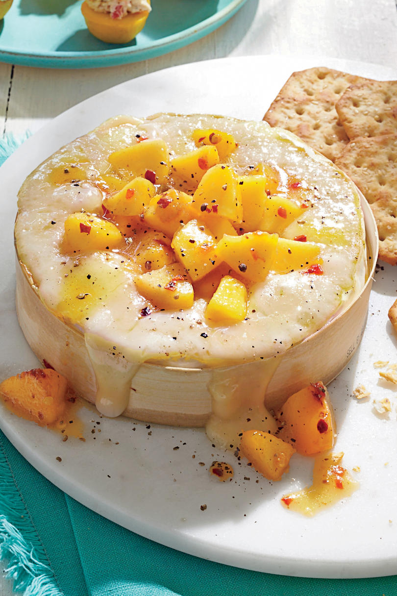 Baked Brie with Jezebel Peaches