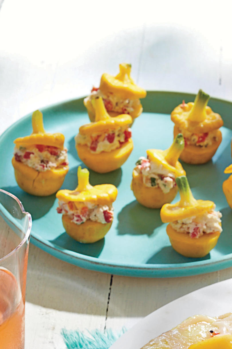 Pimiento-Stuffed Summer Squash